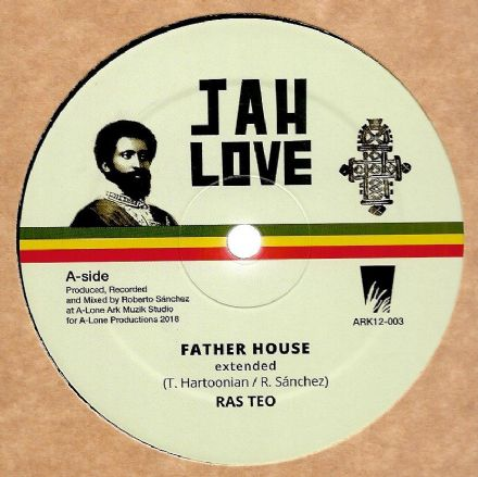 Ras Teo - Father House / In My Vision / Lone Ark Riddim Force - Dub (Jah Love) 12""